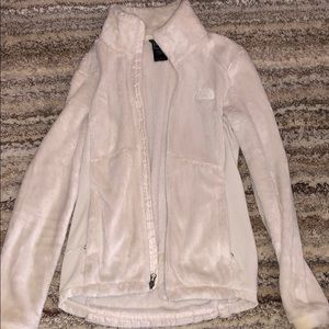 Xs fitted north face white jacket